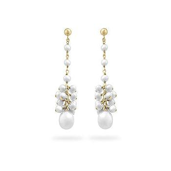 Yellow Gold Pearl Drops