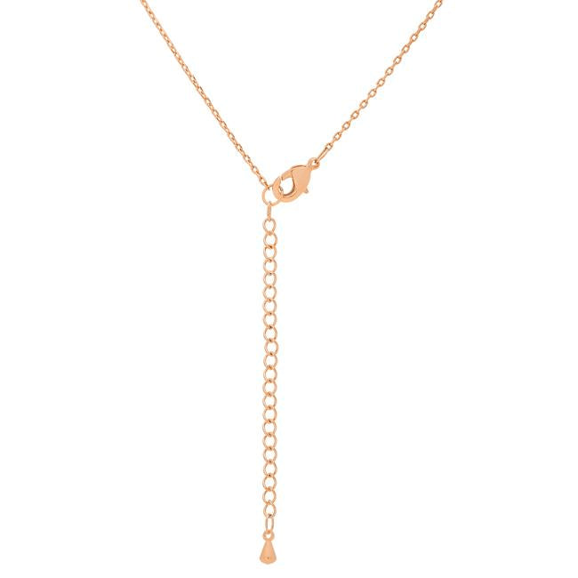 Rose Gold Finish Initial Y Pendant