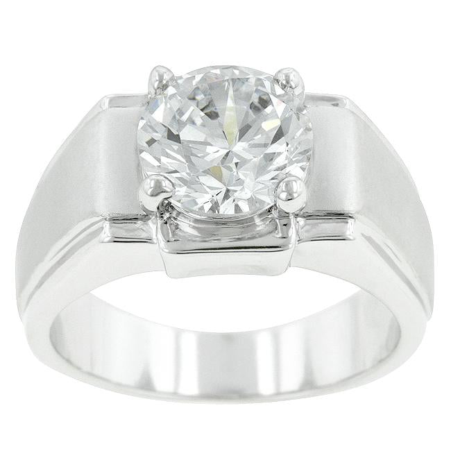 Regal Mens Cubic Zirconia Ring