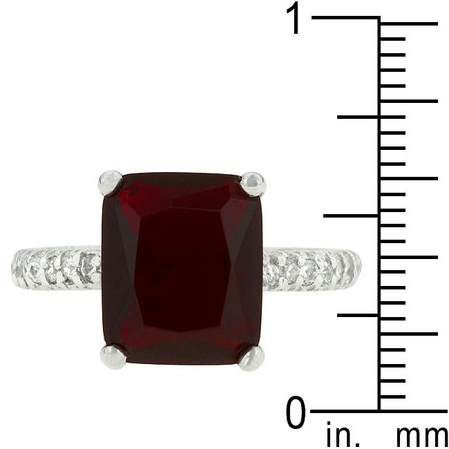 Radiant Cut Ruby Engagement Ring