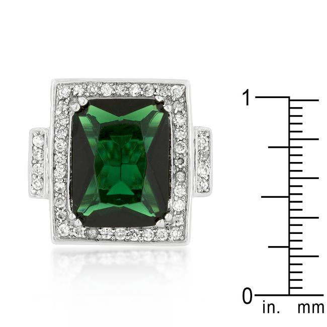 Emerald Green Classic Cocktail Ring