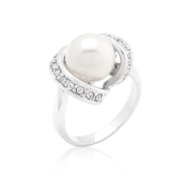 Single Pearl Cocktail Ring