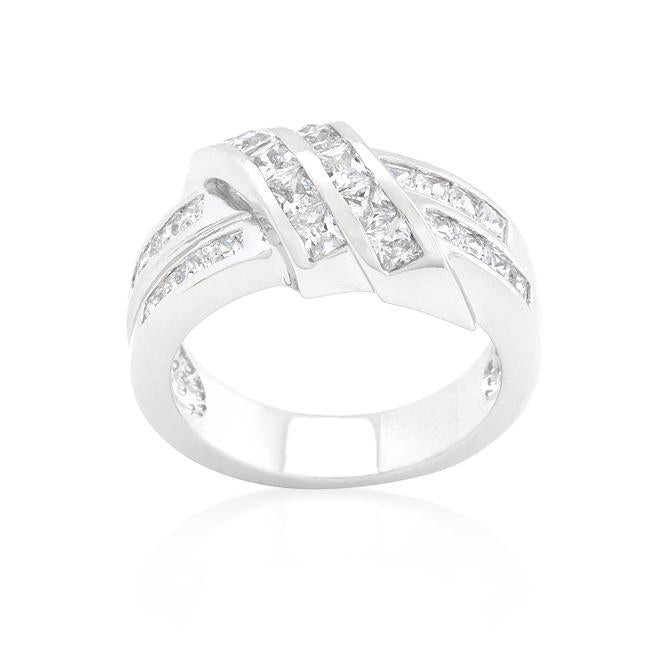 Cubic Zirconia Double Knot Ring