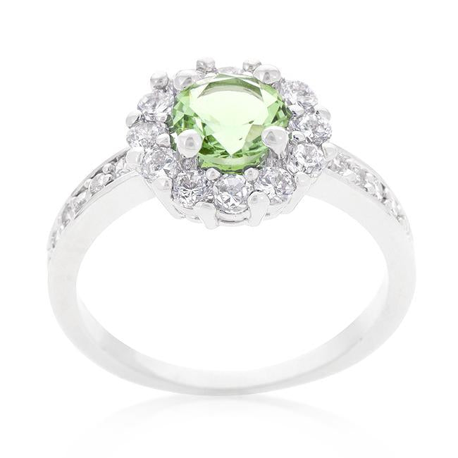 Bella Birthstone Engagement Ring in Green