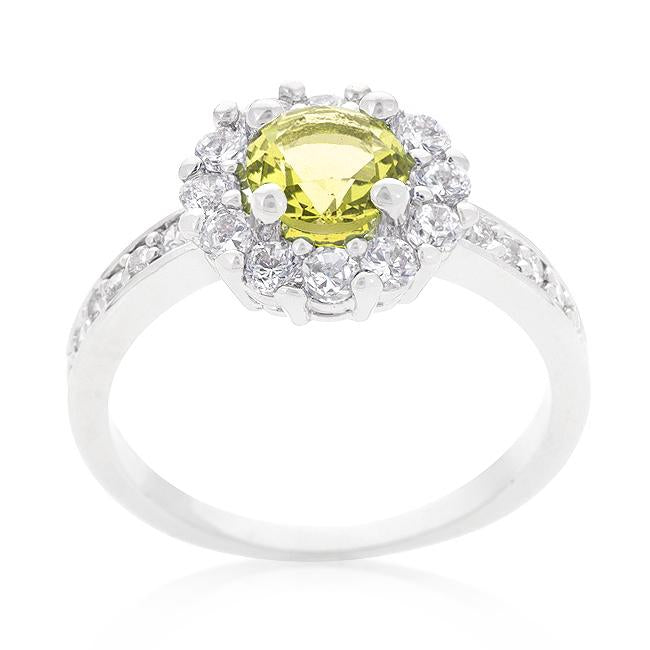Bella Birthstone Engagement Ring in Yellow