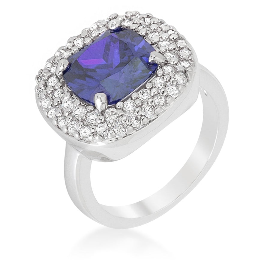 Micropave Lavender Purple Bridal Cocktail Ring