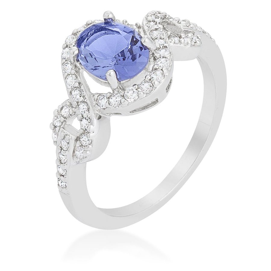 Tanzanite Halo Pave Cocktail Ring