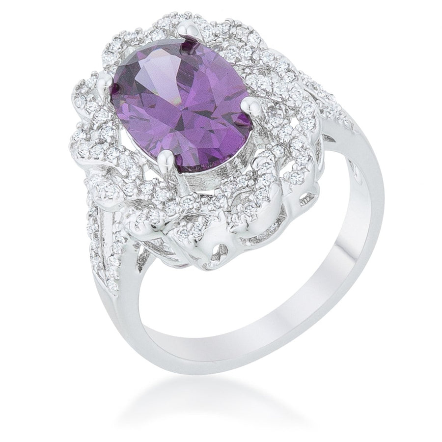 Amethyst Oval Classic Ring