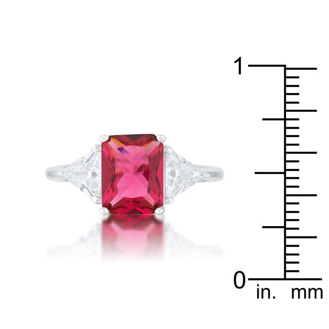 Classic Fuchsia Rhodium Engagement Ring