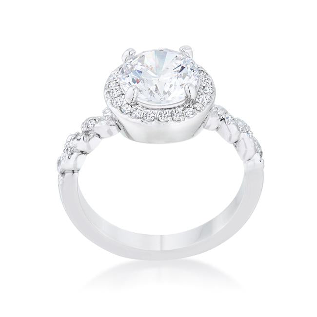 Jordana 2.2ct Clear CZ Rhodium Classic Ring