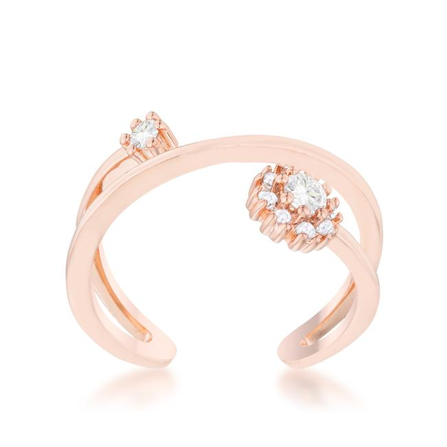 Krista 0.25ct CZ Rose Gold Abstract Wrap Ring
