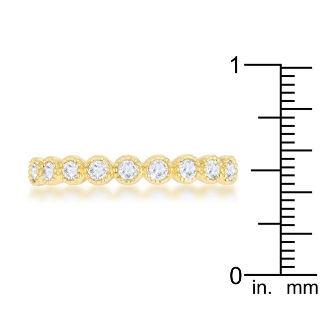 Bea 0.27ct CZ 14k Gold Delicate Band