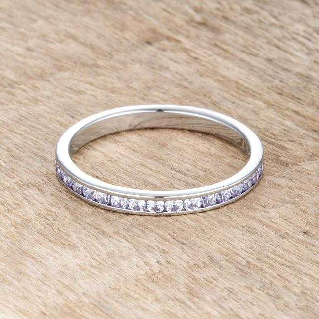 Teresa 0.5ct Light Lavender CZ Stainless Steel Eternity Band