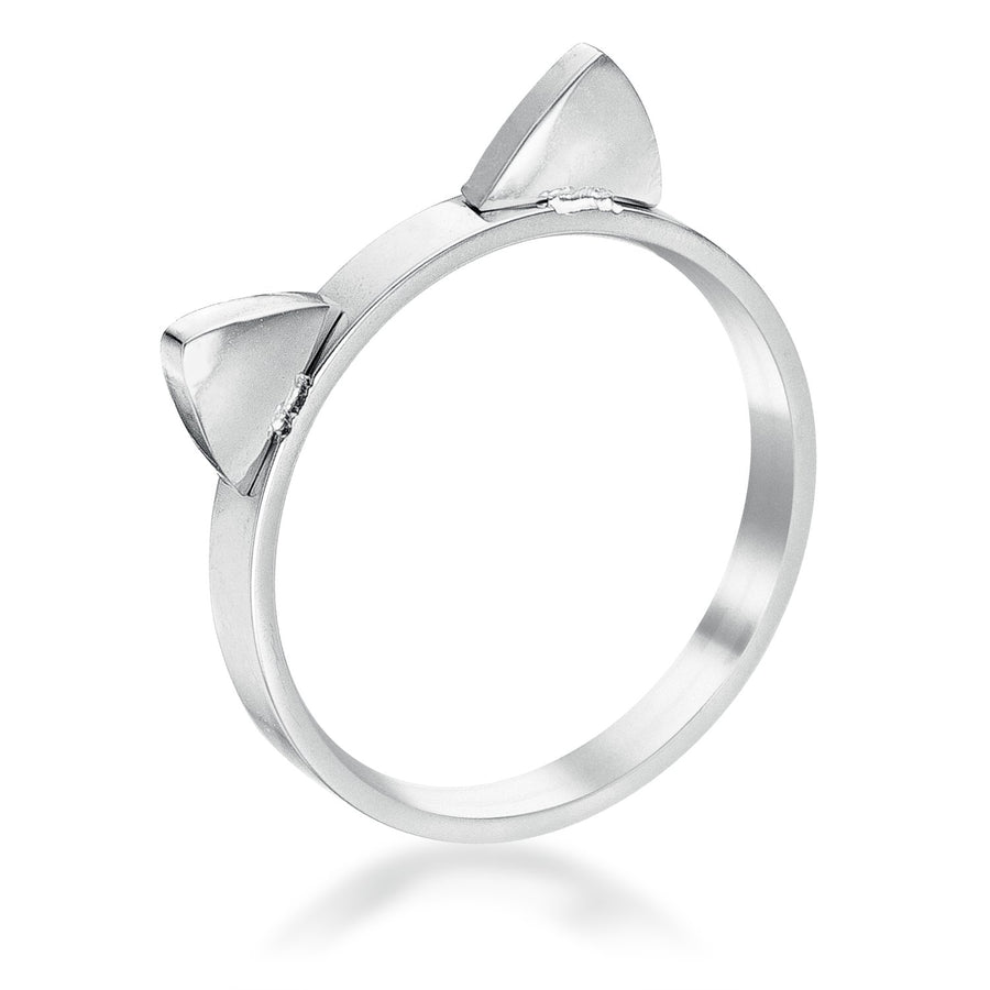 Stainless Steel Cat Ear Ring