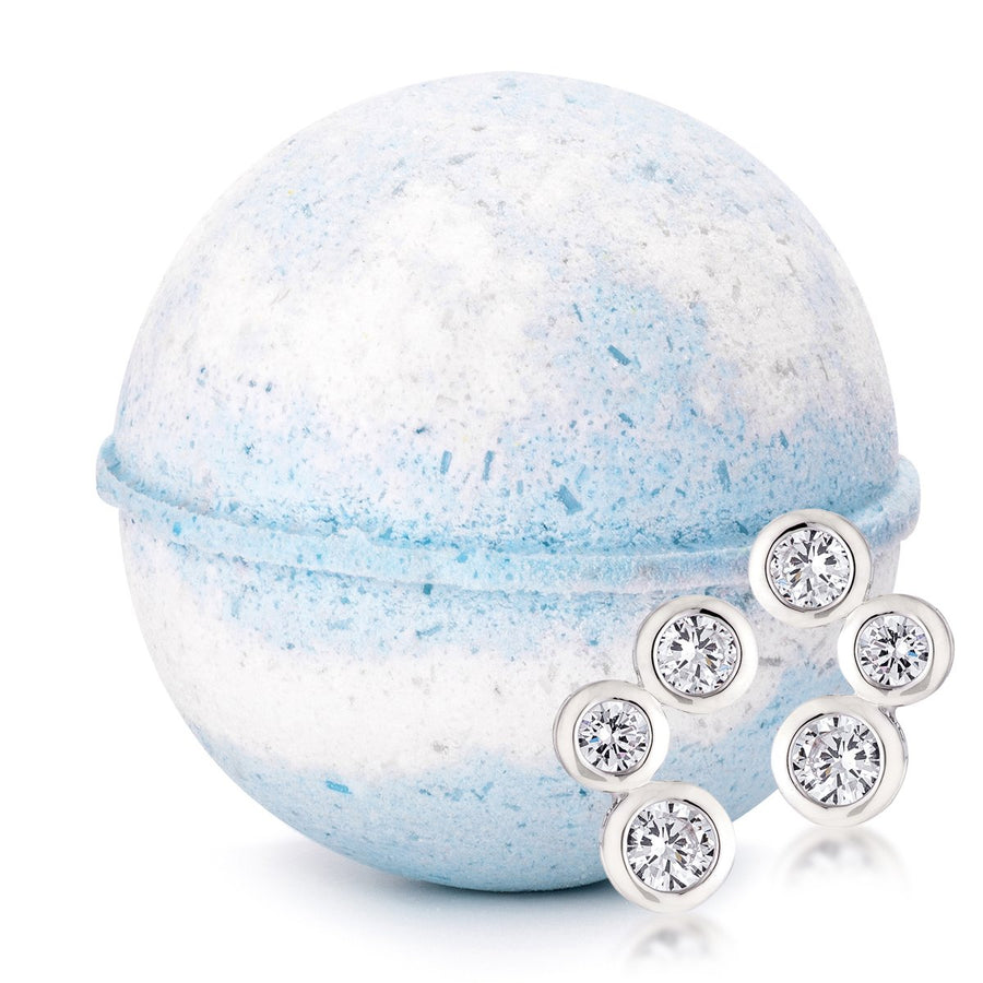 Cotton Blossom Jewelry Bath Bomb