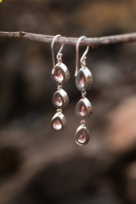 Gorgeous Faceted Amethyst Teardrop Earrings in Sterling Silver - Amethyst Jewelry - Gemstone Jewellery