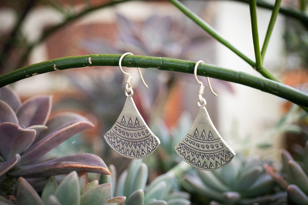 Statement Thai Hill Tribe Silver Earrings - Pure Silver Jewellery - Jewelry - Tribal Jewelry - Tribal Earrings