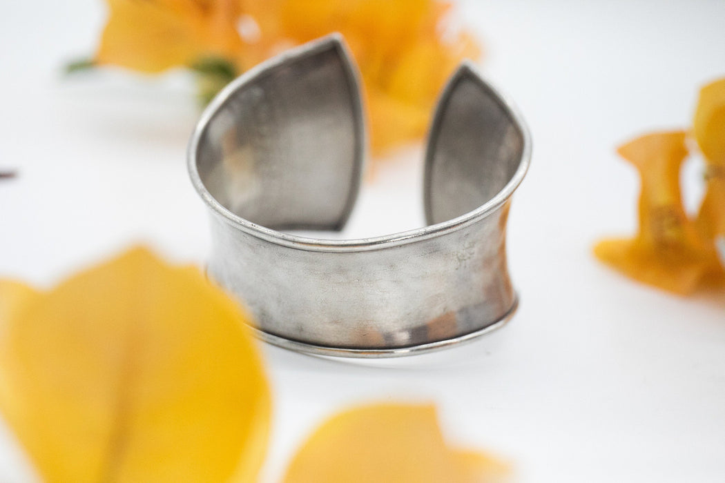 Gorgeous Statement Thai Hill Tribe Silver Bangle - Tribal Silver Bangle - Pure Silver