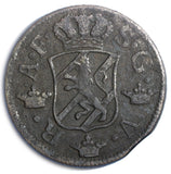 Sweden Adolf Frederick Copper 1763 2 Ore, S.M. Low Mintage-401,000  KM# 461