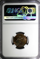 Great Britain George V (1910-1936) 1936 Farthing NGC MS64 BN LAST DATE  KM# 825