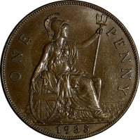 GREAT BRITAIN George V (1910-1936) Bronze 1935 1 Penny KM#838 (15 443)