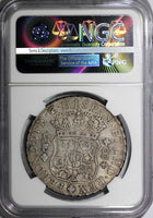 Mexico Ferdinand VI 1754 MO-MF 8 Reales NGC XF DETAIL RARE CROWN KEY KM# 104.2