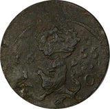Sweden Copper 1655 1/4 Ore  C.R.S SCARCE KM# 211