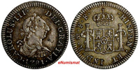 Mexico SPANISH COLONY Charles III Silver 1781 Mo FF 1/2 Real KM# 69.2