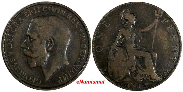 GREAT BRITAIN George V 1912 H 1 Penny Ralph Heaton & Sons, Birmingham KM# 810