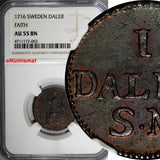SWEDEN Carl XII 1716 1 Daler NGC AU55 BN Faith of the People SCARCE KM# 354