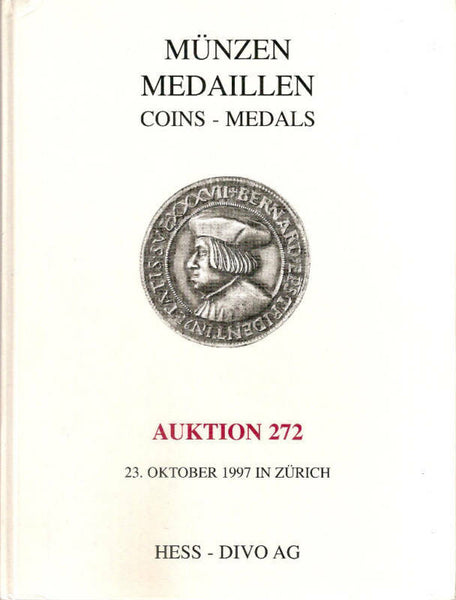 HESS-DIVO AG 1997 ANCIENT ,MEDIEVAL AND MODERN COINS HB