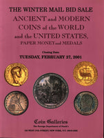 STACK'S COIN GALLERIES,ANCIENT,WORLD,US COINS,FEB.27 2001 IRISH COINS,MEDALS...