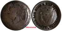 IRELAND Copper ND (c.1850) Token Large Cent Countermark