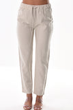 Azucar Ladies Linen Drawstring Lined With (2) Back Pockets Casual Pants in (2) Colors - Llp1094