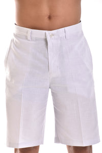 Bohio Mens Cotton With Built In Flex Flat Front Short In (3) Colors - Mcsh850