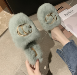 Multicolor Fluffy Slippers