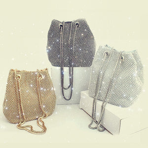 Bling Bling Rhinestone Bucket Bag