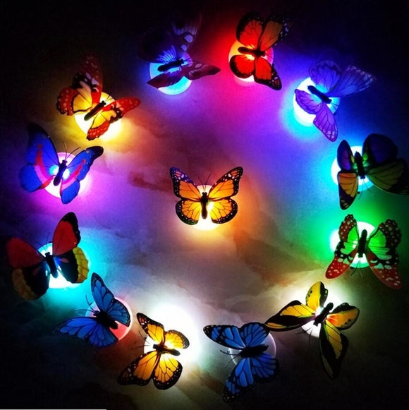3D Butterfly LED Wall Sticker