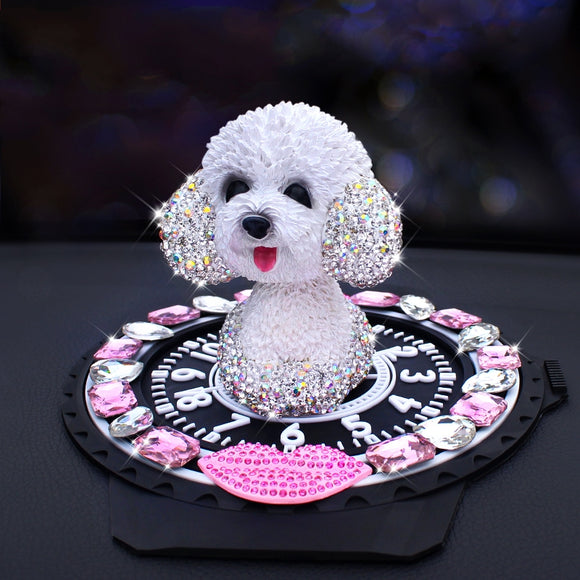 Bling Bling Dog Car Decoration