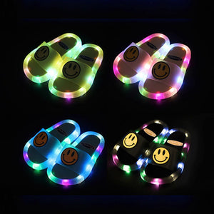 Smile LED Light Kids Soft Base Slipper