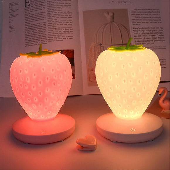 Strawberry Night Light Lamp