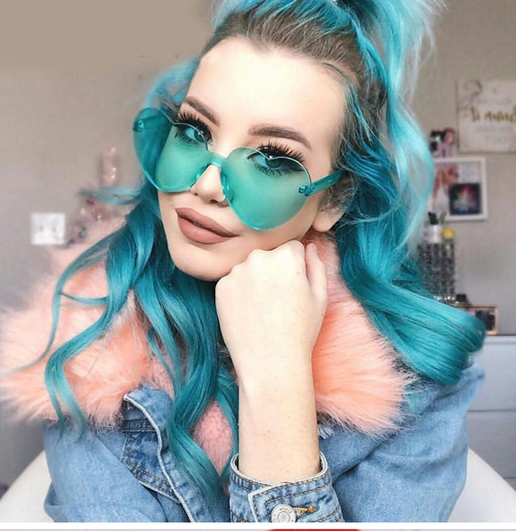 Fashion Love Heart Shaped Sunglasses