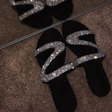 Bling Bling Flat Slippers