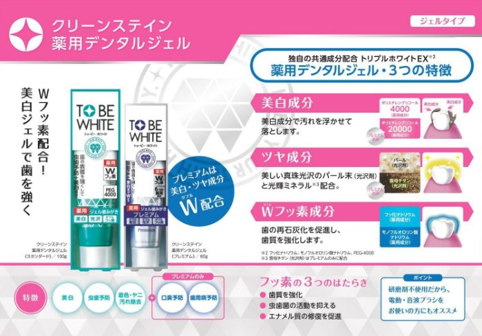 Jetour Mall TO BE WHITE 藥用美白謢牙凝露Premium 60克blue Clean Stain Medical Dental Gel Premium 60g_blue