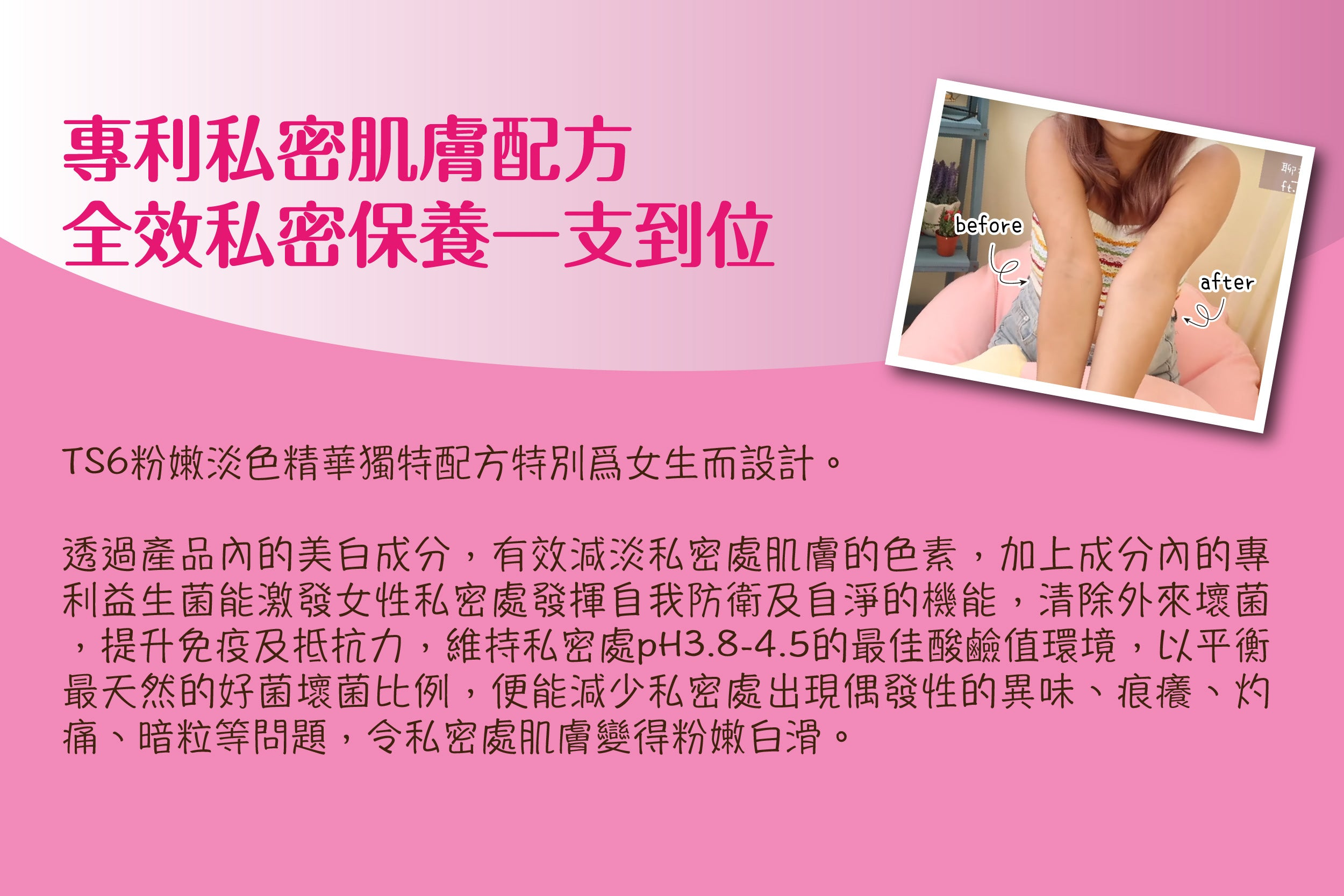 Jetour Mall TS6 私密粉嫩淡色精華 TS6 Feminine Intimate Serum