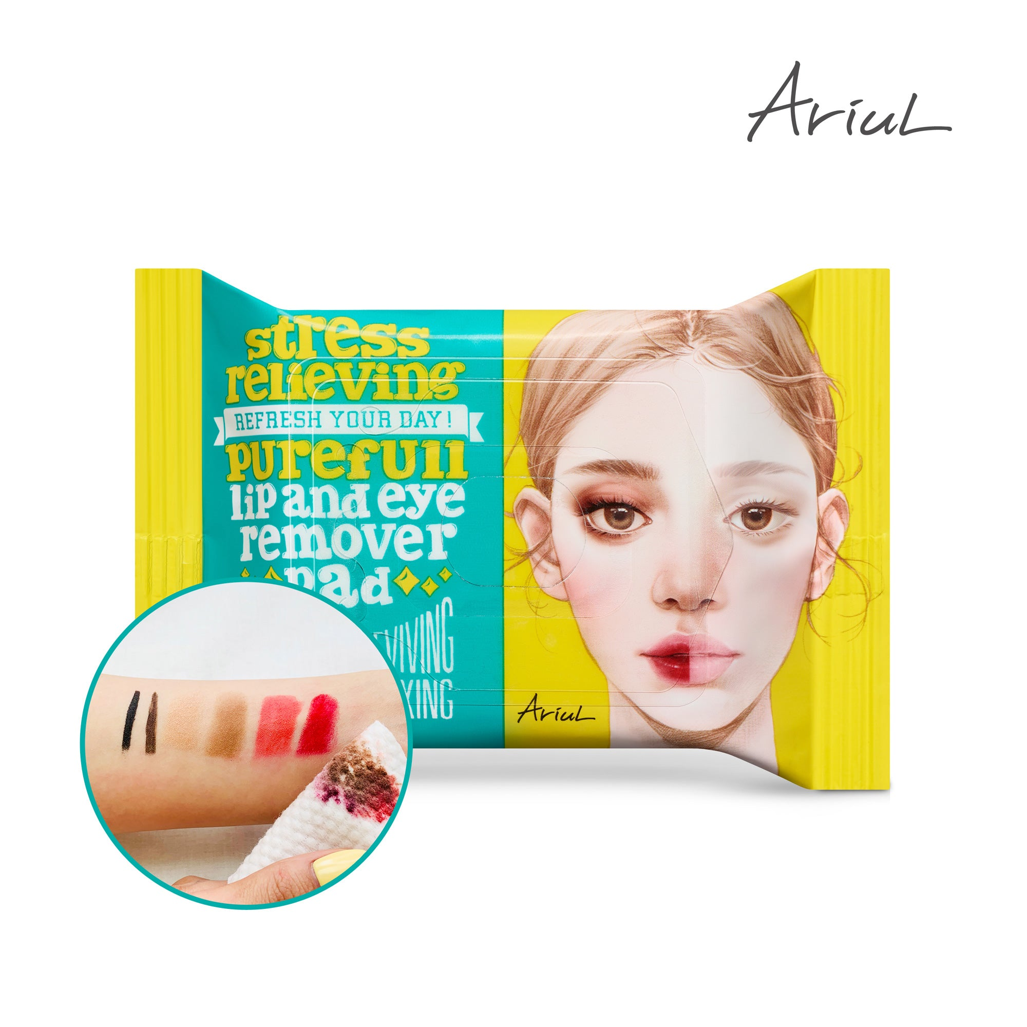 Jetour Mall ARIUL極淨舒壓眼唇卸妝棉 (30片)Ariul Stress Relieving Lip and Eye Remover Pad (30 Sheets)