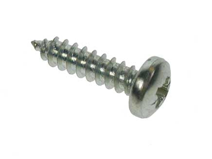 "8x1/2"" ZP Pan Head Recessed Pozi Self Tapping Screw. Box of 200"