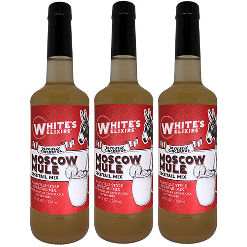 White's Elixirs Moscow Mule Craft Cocktail Mix 750ML Triple Pack