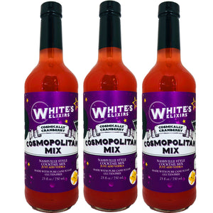 White's Elixirs Cosmopolitan Cocktail Mix 750 mL Triple Pack