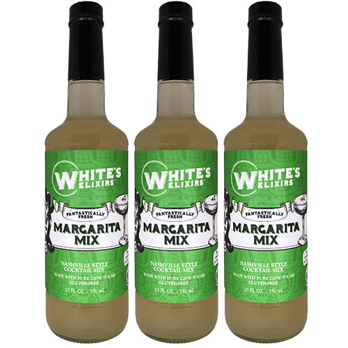 White's Elixirs Fresh Margarita Cocktail Mix 750ML Triple Pack